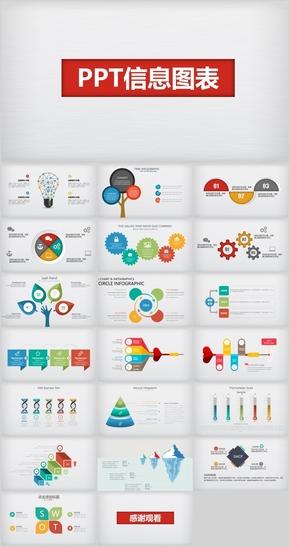 多彩PPT信息图表