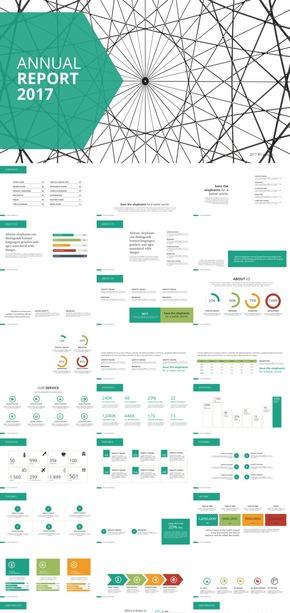 雅绿色商务汇报计划总结PPT模板