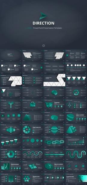 3D模型类100图图表样式PPT