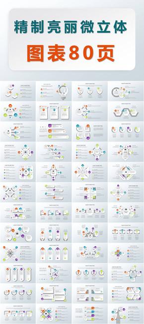 精制亮丽立体图表80页