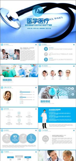 医学营销医疗宣传产品总结汇报PPT模版