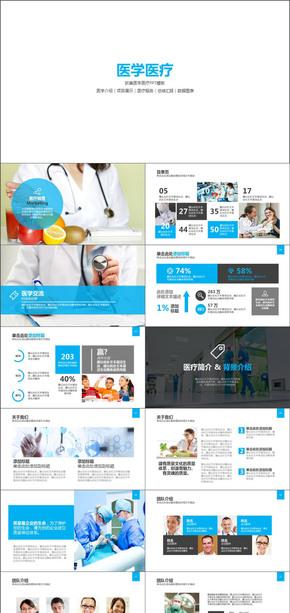 医学介绍项目展示医疗服务总结PPT模板