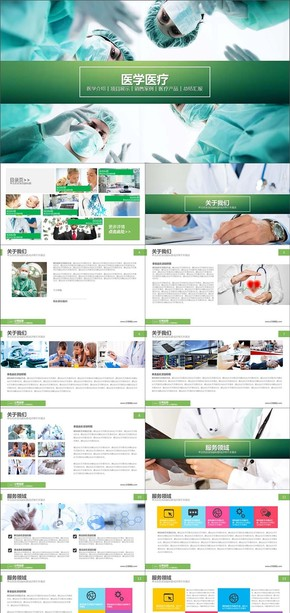医学企业介绍项目进度总结汇报PPT模板