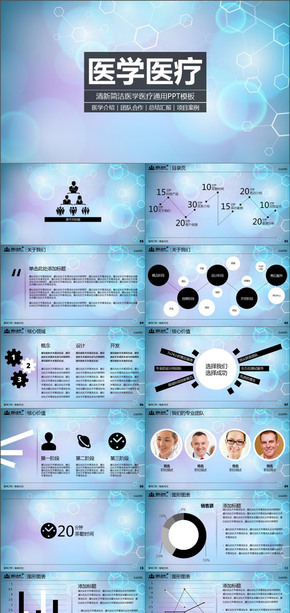 医学介绍团队合作医疗项目案例PPT模板