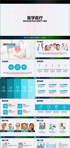 医学介绍发展历程医疗服务推广PPT模板