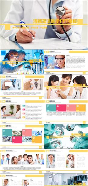 医学介绍服务案例总结医疗产品PPT模版