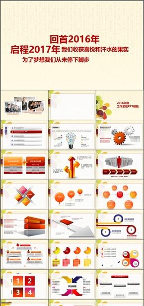 I184.简约时尚高端商务汇报企事业总结计划商务演示PPT模板
