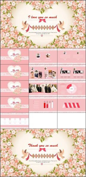 K-082.粉色花朵时尚手绘风格通用总结计划杂志风格