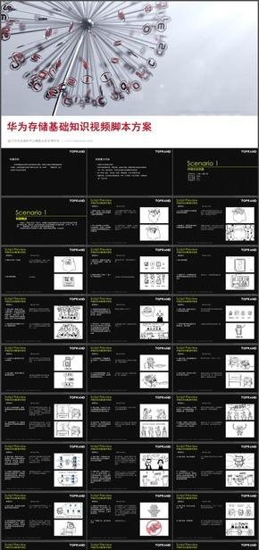 20.【动画参考学习模板】某科技公司存储基础知识视频脚本方案视频制作广告设计师脚本