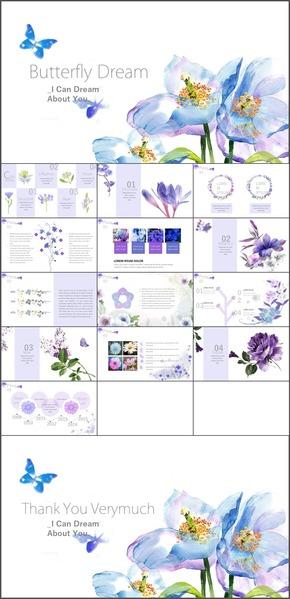 K-086.紫色蝴蝶花朵可爱唯美 (演示文件)