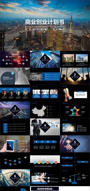 A-36商业计划书企业定制商业计划PPT动画模板