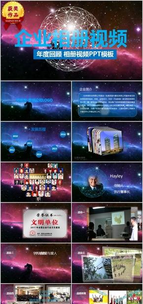 企业年度回顾相册视频大事件宣传纪念模板