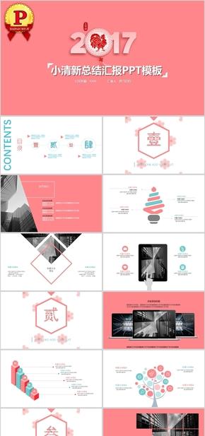 【顶级设计】清新粉嫩总结汇报企业介绍PPT模板