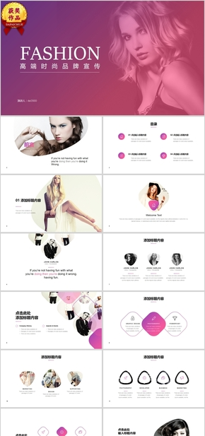 【顶级设计】欧美时尚商务动态通用PPT模板 (5)