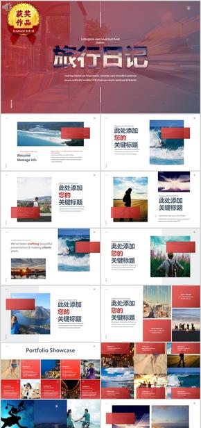 大气旅行旅游相册纪念宣传模板