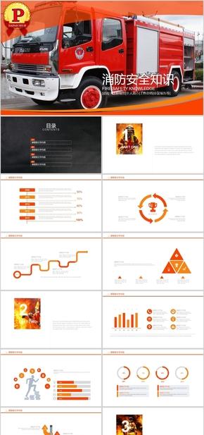 【顶级设计】消防安全知识宣传PPT模板