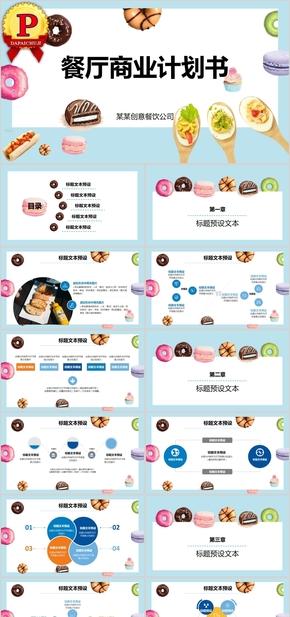 餐厅商业计划书项目模板PPT