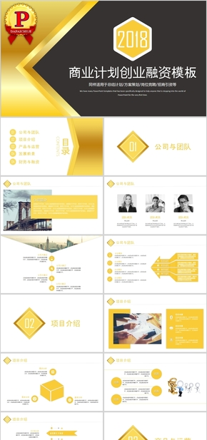 精致商务策划商业计划书融资PPT模板
