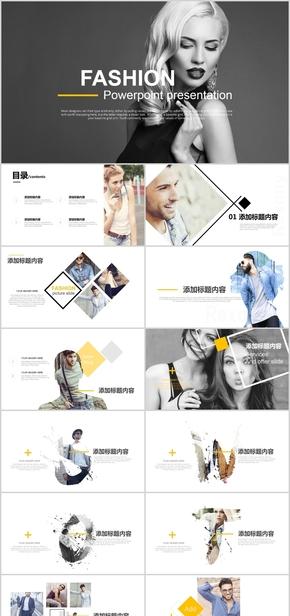【顶级设计】欧美国外风时尚公司简介品牌推广宣传PPT模板1