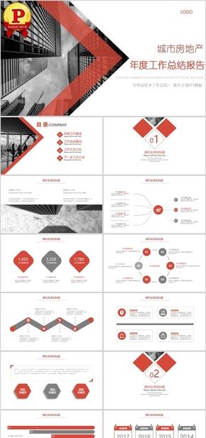【顶级设计】智慧城市房地产商务工作总结汇报PPT