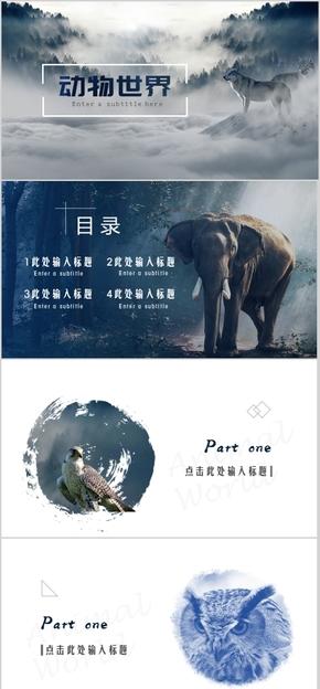 动物主题两个PPT模版