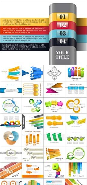 多彩150页创意精美绝伦PPT图表