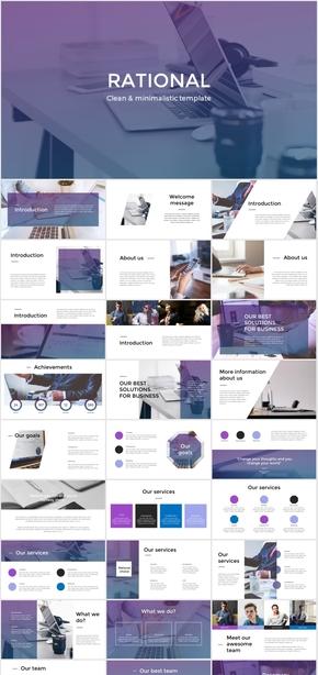 Rational_powerpoint迷人的紫色系PPT模板 欧美杂志风 商务实用