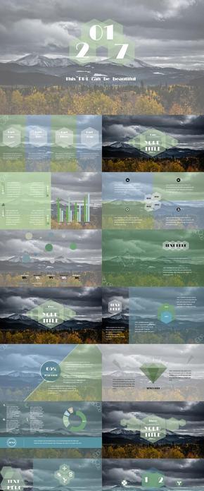 商务汇报工作总结简约大气类通用PPT模版