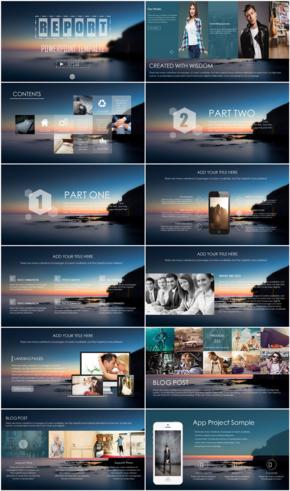 科技感商业产品发布企业介绍PPT模板