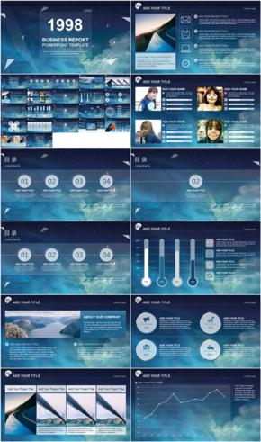 星空IOS范商业报告PPT模板