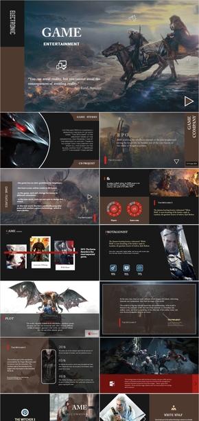 巫师3狂猎 简平风格 游戏形象 PPT作品
