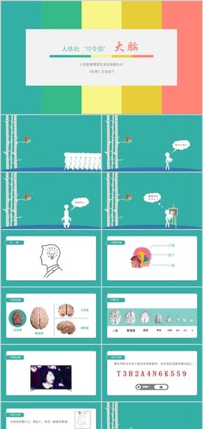 小学科学《认识大脑》课件比赛公开课微课PPT
