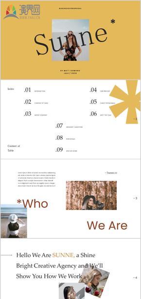 創意雜志風格個人簡介求職簡歷個人簡歷模特藝人時尚個人簡介自我介紹模特公司簡介模特商務PPT模板