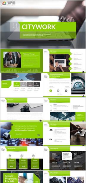 简约高端大气地产发布会演讲企业介绍工作汇报年终汇报欧美风创意策划文设计咨询商务大气杂志风ppt模板