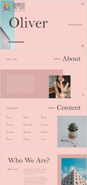 创意时尚杂志奢侈品风格宣传画册欧美服装模特潮流走秀时装广告摄影旅游电子相册美女写真画册PPT模板