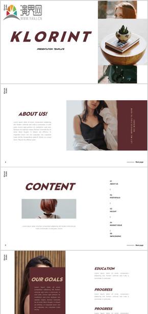 創意雜志風格個人簡介求職簡歷個人簡歷模特藝人時尚自我介紹模特公司簡介模特攝影展示PPT模板