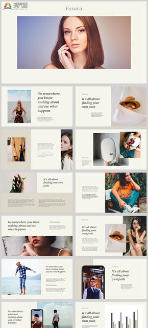 2021创意高端模特公司简介公司介绍年终总结新年计划个人介绍企业产品画册个人简介艺人介绍PPT模板