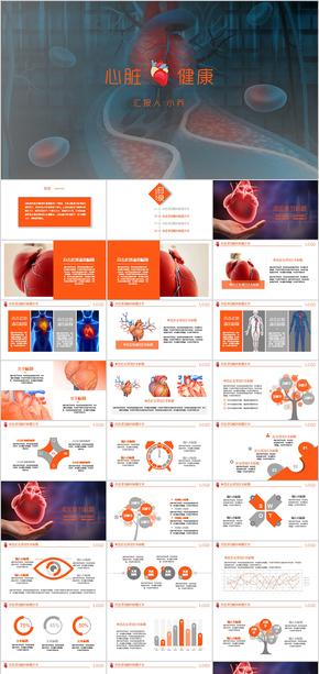 心脏 心脏健康 医疗研究 学术报告 PPT