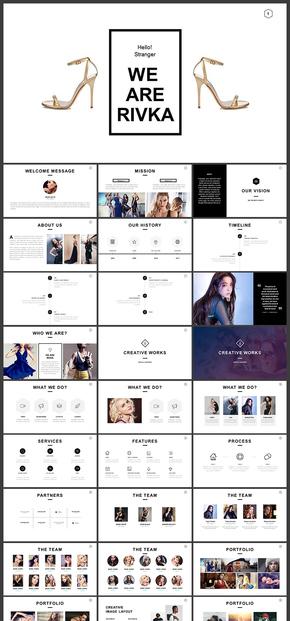 欧美风杂志风个性时装企划产品宣传品牌宣传企业宣传ppt模板