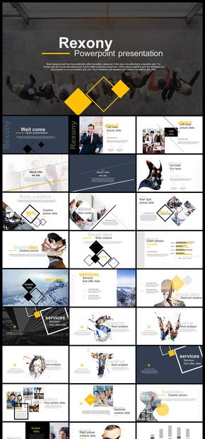 欧美风杂志风简约时尚文艺书法字体企业宣传画册企业介绍公司简介工作汇报计划总结摄影摄像PPT模板