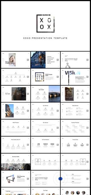欧美风极简风简约大气高端企业介绍公司简介商务汇报展示产品发布品牌宣传企业宣传画册摄影摄像PPT模板