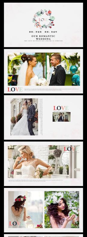 唯美浪漫杂志风婚礼动态电子相册PPT模板