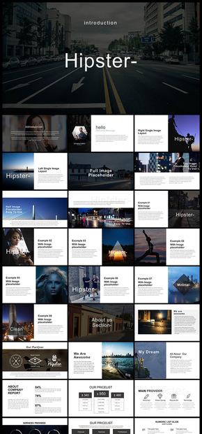 欧美风简约风杂志风企业宣传画册企业介绍时尚摄影摄像产品发布品牌宣传商业计划创业计划广告咨询PPT模板