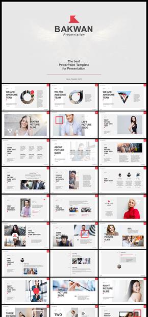 欧美风极简风创意杂志排版企业宣传画册企业介绍公司简介产品发布等商务通用PPT模板