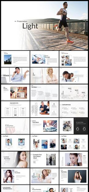 欧美风极简风简约风产品展示产品发布品牌宣传企业介绍业务介绍商务汇报PPT模板