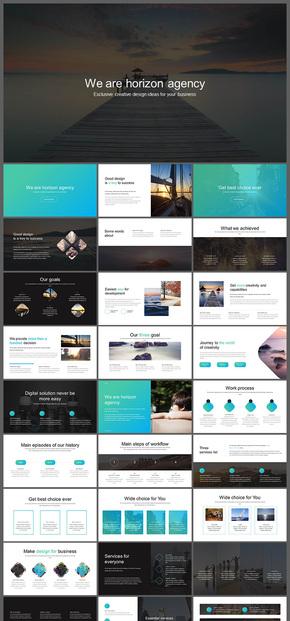 欧美风公司团队介绍企业介绍企业宣传商业创业计划书等通用PPT模板