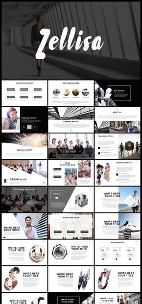 欧美风简约文艺风格图片展示摄影摄像企业宣传企业介绍产品发布品牌宣传商业汇报计划总结PPT模板