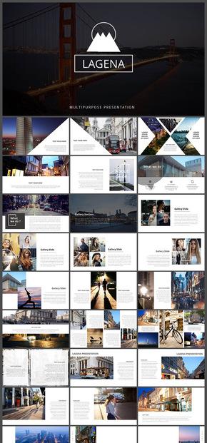 欧美风极简杂志风时尚摄影摄像电子相册旅游相册广告宣传产品发布品牌展示时尚画册企业宣传介绍PPT模板