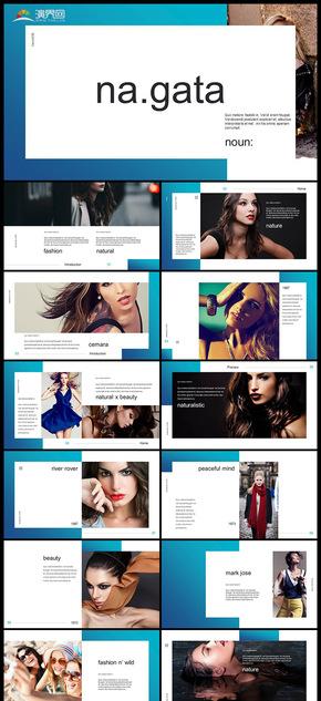 欧美风时尚企业宣传册个人写真图片展示产品发布品牌宣传PPT模板