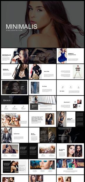 欧美风简约摄影摄像图片展示个人写真广告宣传产品发布PPT模板